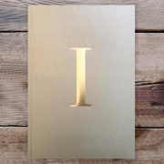 Letter I Gold Notebook