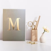 Letter M Gold Notebook