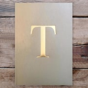 Letter T Gold Notebook