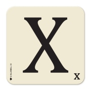 Letter X Coaster