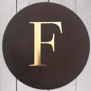 Letter F Leather Coaster