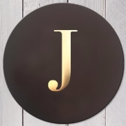 Letter J Leather Coaster