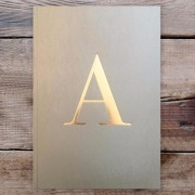 Letter A Gold Notebook