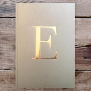 Letter E Gold Notebook