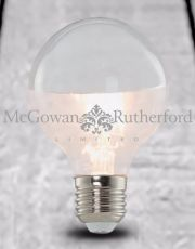 LED 3w Large Filament Bulb with Silver Crown (E27)