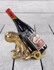 Gold Octopus Wine Bottle Holder