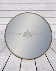 *Carton of 6* Medium Round Gold Framed Arden Wall Mirrors