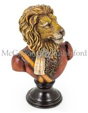 Gentry Lion Bust on Round Base