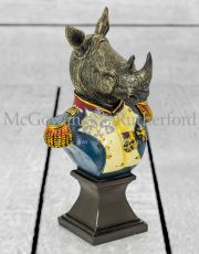 Small Gentry Rhino Bust on Square Base