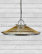 Metal and Wicker Retro Ceiling Pendant