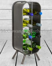 Camden Metal Industrial Small 8 Bottle Wine Rack