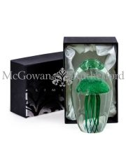 Large Green Jellyfish Glass Paperweight with Gift Box