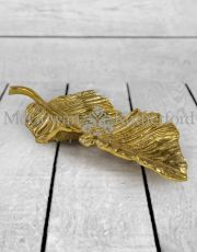Large Decorative Gilded Aluminium Leaf Platter