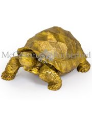 Extra Large Gold Tortoise Figure
