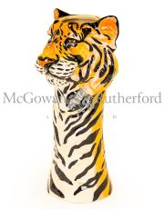 Ceramic Tiger Head Vase