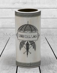Antiqued White Ceramic Umbrella Stand