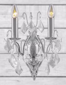 Chrome French Sconce