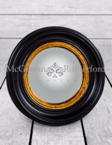 Round Black Small Convex Mirror