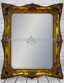 Large Gold Classic French Square Mirror