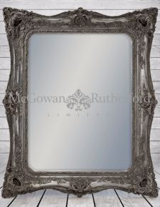 Large Silver Classic French Square Mirror