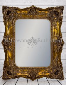 Gold Classic Square French Mirror
