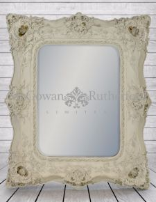 White Classic Square French Mirror