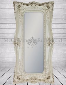 Tall Cream/Antique White Classic Mirror