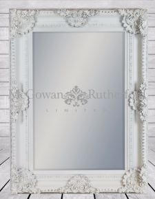 White Rectangular Classic Mirror