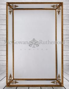 Large Gold French Framed Mirror