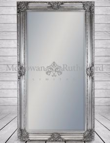 Large Silver Rectangular Classic Mirror