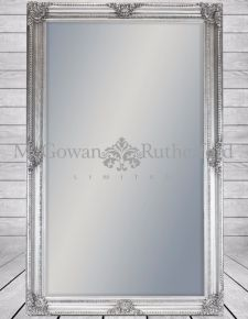 Extra Large Silver Rectangular Classic Mirror