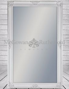 Extra Large White Rectangular Classic Mirror