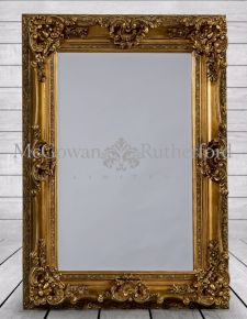 Antique Gold Small Regal Mirror