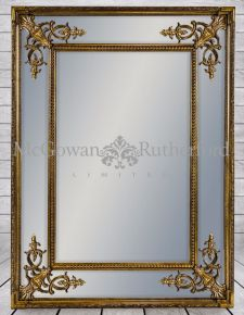Gold Square French Mirror