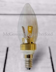 Small Edison Gold 4W LED Candle Bulb