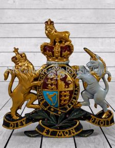 Large Coloured Coat of Arms Wall Plaque