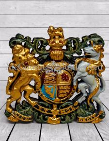 Medium Coloured Coat of Arms Wall Plaque