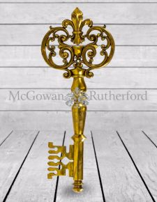 Large Antique Gold Key Wall Decor