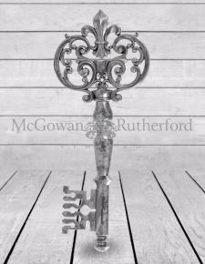 Large Antique Silver Key Wall Decor