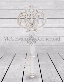 Large Antique White Key Wall Decor