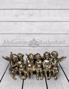 Metal Plated Sitting Angels Shelf Decoration