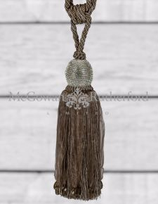 "Taupe ""Diamond"" Ball Tassel"