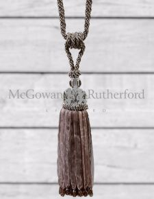 Taupe with Glass Ball Tassel