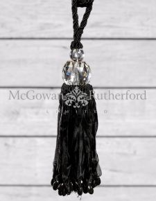 Black with Glass Ball Tassel