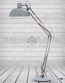 Chrome Extra Large Classic Desk Style Floor Lamp