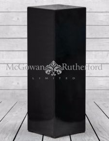 Black Glass Pedestal