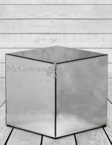 Clear Venetian Glass Cube