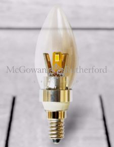 Small Edison Silver 4W LED Candle Bulb