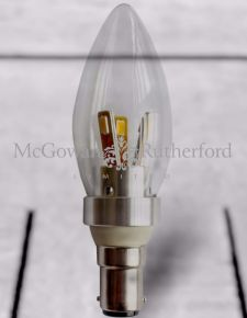 Small Bayonet Silver 4W LED Candle Bulb