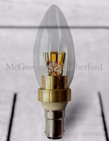 Small Bayonet Gold 4W LED Candle Bulb